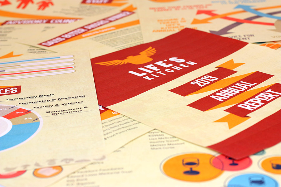 Annual Report Design adn Layout for Life's Kitchen, Boise Idaho