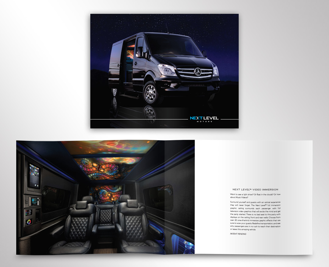 Next Level Motors Vehicle Brochure Design