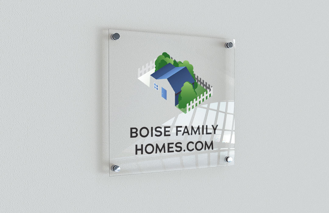 Boise Family Homes Real Estate Logo Design
