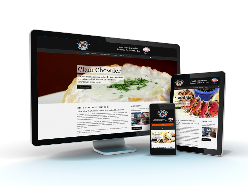 Fresh Off The Hook Restaurant Website Design