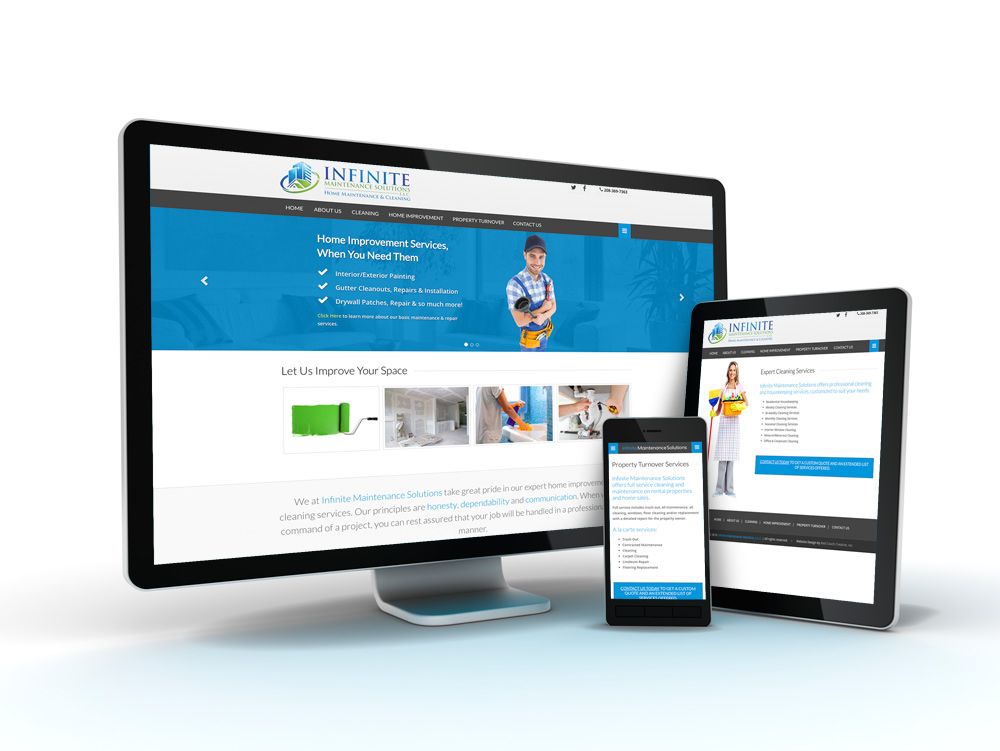 Infinite Maintenance Solutions Web Site Design, SEO