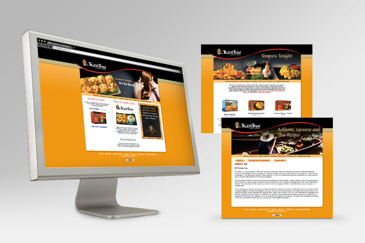 TigerThai Website Front-End Design